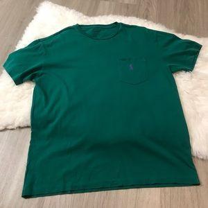 Polo Ralph Lauren Green Purple Short Sleeve Shirt